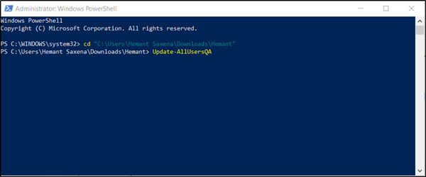 disable Security Questions in Windows 10 using a PowerShell Script