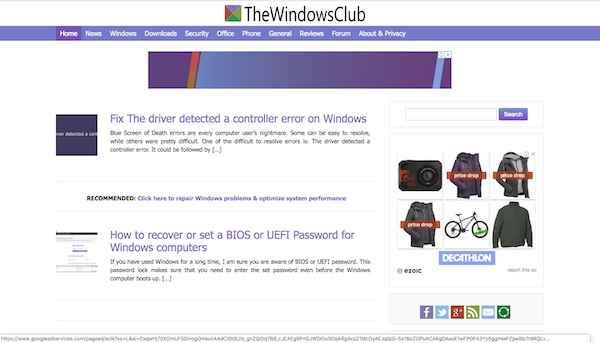 TheWindowsClub with Color Enhancer