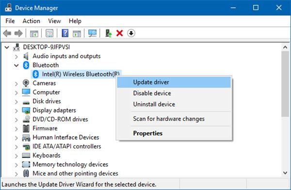 Toggle to turn Bluetooth On or Off is missing