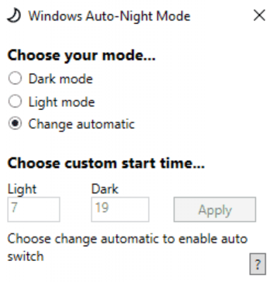 With the aggressive force to brand the UX of whatsoever software improve Automatically switch betwixt Windows 10 Dark too Light subject amongst Windows Auto-Night Mode