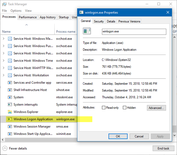 Windows Logon Application or winlogon.exe