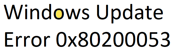 Windows Update Error 0x80200053
