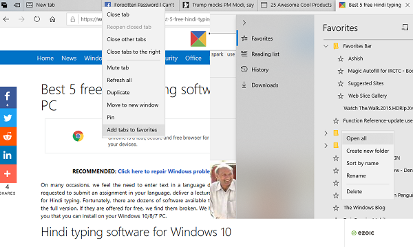 How to relieve all Tabs every bit Bookmarks inwards Edge How to relieve all Tabs every bit Bookmarks inwards Edge