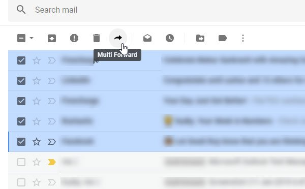 Forward multiple emails at once from Gmail