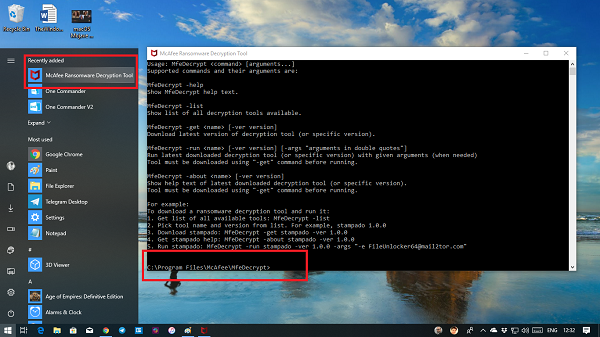 McAfee Ransomware Recover (Mr2)