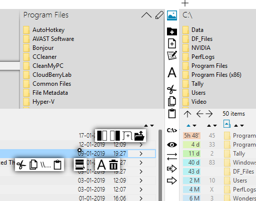 One Commander is a free alternate File Manager