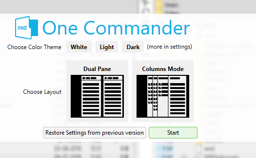 One Commander Modes