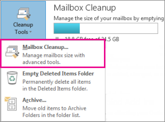 Outlook Mailbox Cleanup