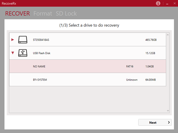 RecoveRx file recovery software