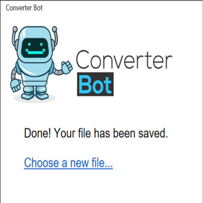 file converted message