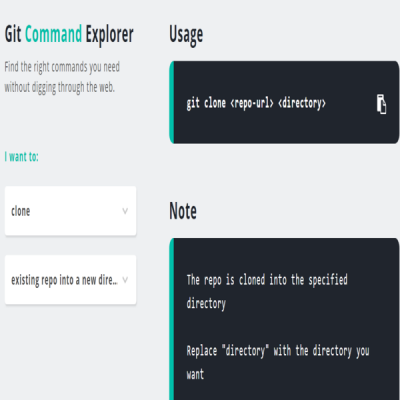 find all git commands in one place git explorer