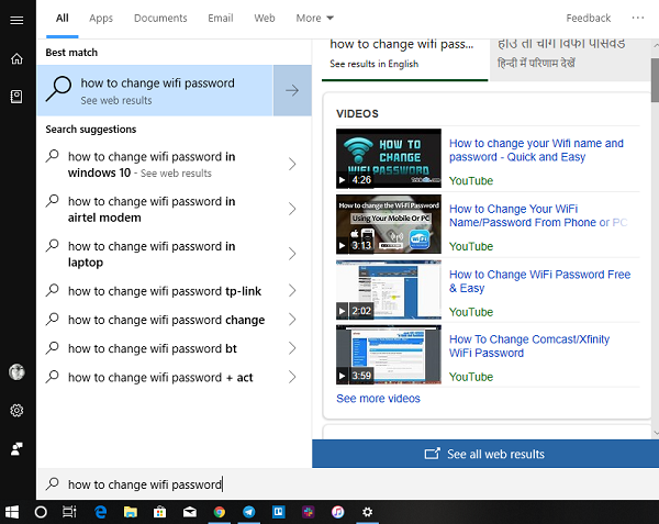 Bing VIdeo Results Windows 10