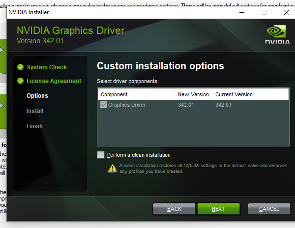 NVIDIA Cleaner Custom Installation