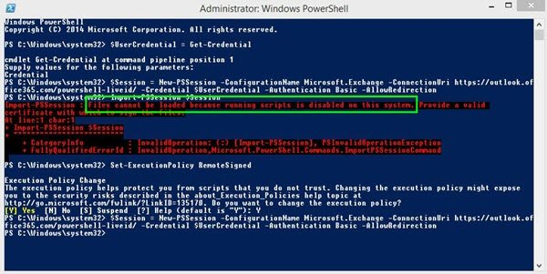 Powershell cannot be loaded because running scripts is disabled