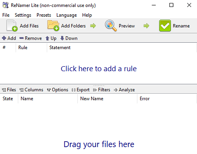 Free file rename software for Windows