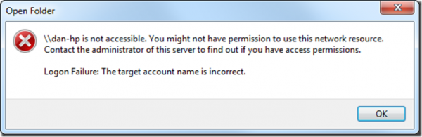You might not have permission to use this network resource