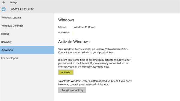 use Windows 10 without Activation