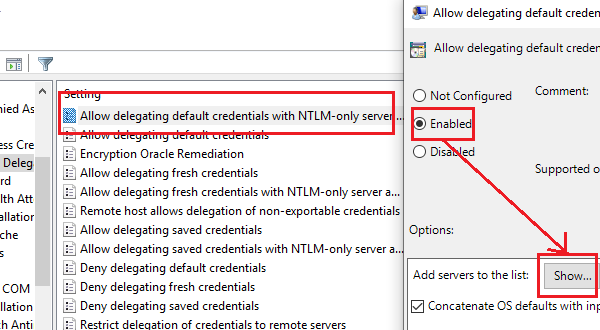 Allow delegating default credentials with NTLM-only server authentication