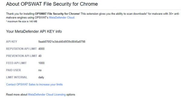 OPSWAT File Security for Chrome