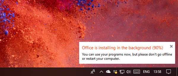Office is taking a long to install