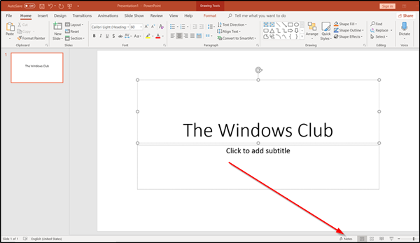 Make Speaker Notes privately visible in PowerPoint