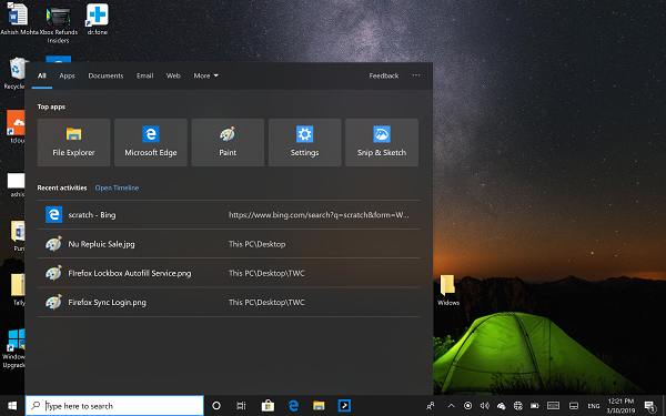 New Features in Windows 10 v1903