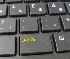 enable or disable Alt Gr key