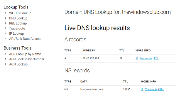 whois DNS Lookup