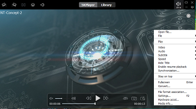 5K Media player with hardware acceleration