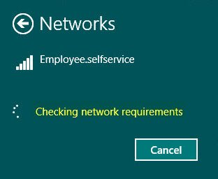 Checking network requirements