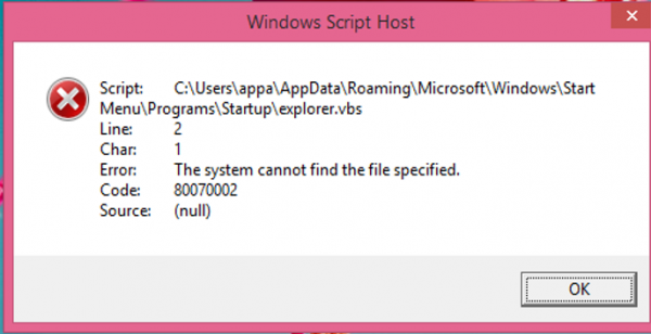 Windows Script Host error on Windows 10 startup