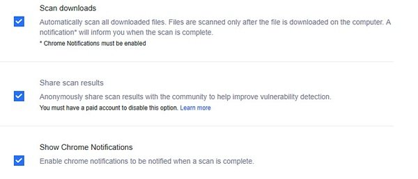 File Security for Chrome