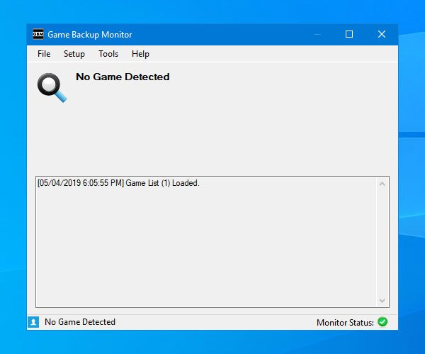 Game Backup Monitor lets you backup games automatically