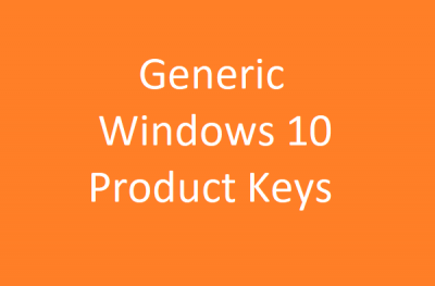 Generic Windows 10 Product Keys to install Windows 10 Enterprise