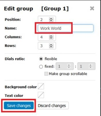 Group Speed Dial for Firefox