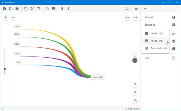 Mindmapp is a free mind mapping software for Windows 10