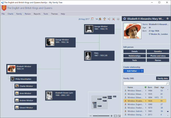 My Family Tree genealogy software for Windows