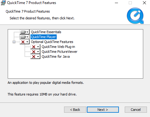 How to play QuickTime in Windows 10