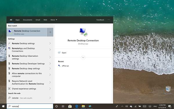 windows 10 home remote desktop