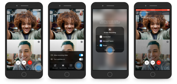 Share screen on Skype for Android and iOS