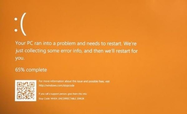Windows 10 Orange Screen of Death