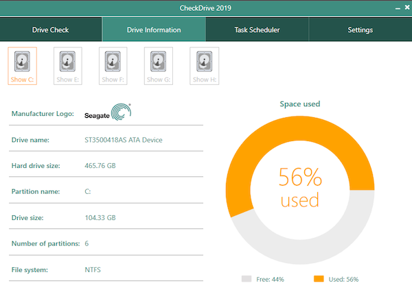 CheckDrive Fix Hard drive errors and monitor in real time