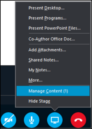 Click on the monitor icon to access attached content