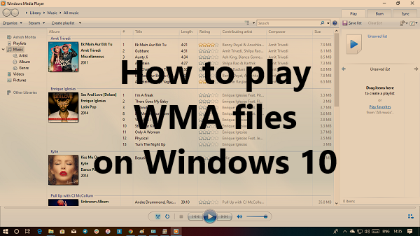 How to play WMA files on Windows 10
