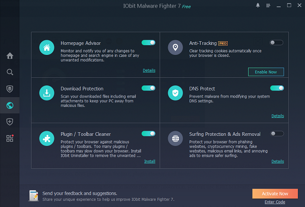 IObit Malware Fighter Free Browser Protection