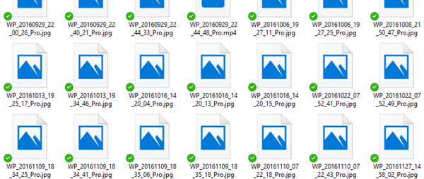 OneDrive thumbnails not showing