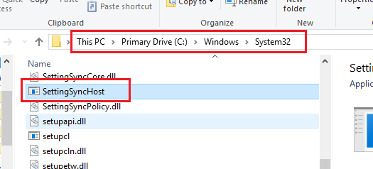 SettingSyncHost.exe high CPU usage
