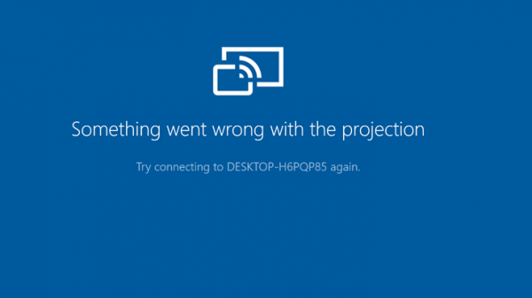 Something went wrong with the projection error