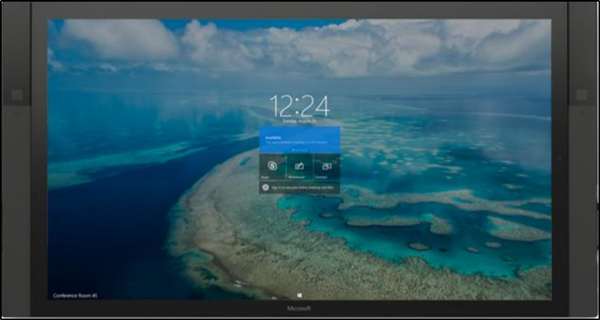 How to access content attached to a meeting invite in Surface Hub
