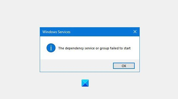 The dependency service or group failed to start